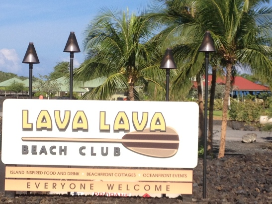 Enjoy incredible sunsets and a tropical drink at the Lava Lava Beach Club in Waikoloa Resort Area